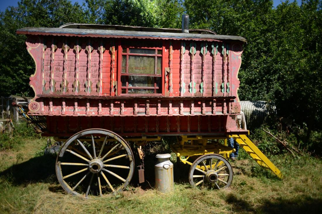 This period gypsy caravan is one of several examples of traveller's homes that Bill has collected over the years.