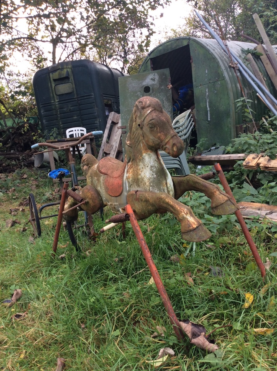 Taken on our recce to Mill Stream - just a snippet of the rustic props available on site.