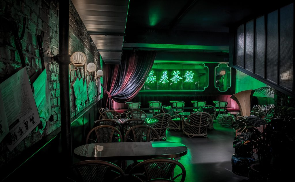 The Tea Room @ Bun House - a neon wonderland available via JJ Connect (Film Locations)