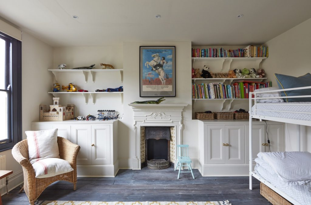 Light, spacious children's bedroom - may be used for filming and photography. Location: Victorian Briars