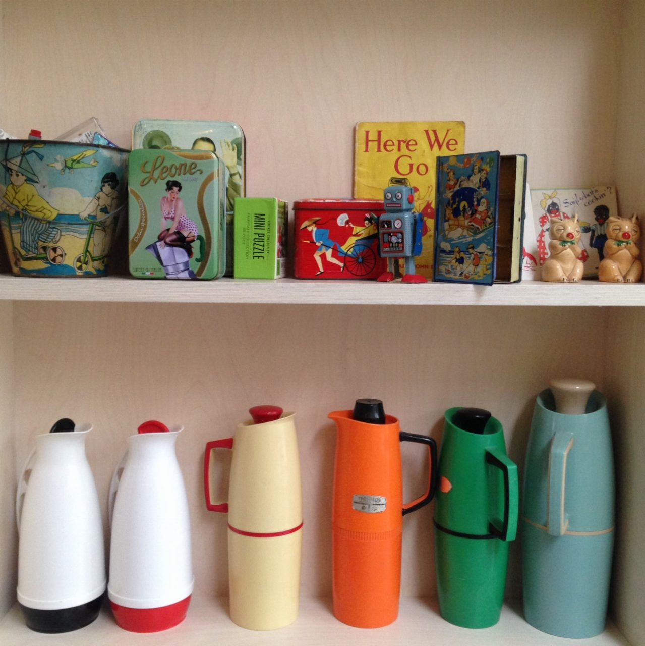 Some of Amy's viintage wares. Taken on our team recce to Hengrave.