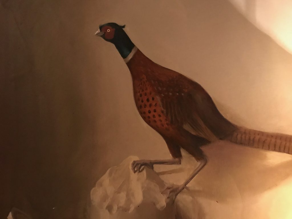 The pleasant pheasant. Just one of many sumptuous details of the decor at 30 Pavilion Road