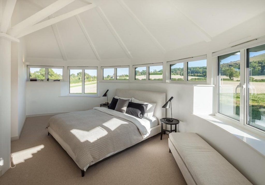 Bedroom envy - the 4th floor of the location tops it off with a 360 view of the Hampshire landscape