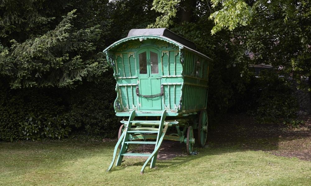 Film Locations - Green gypsy caravan