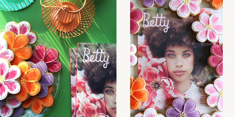 betty magazine Edible Flowers party