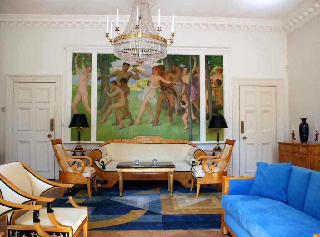 Statement art, bespoke furniture: the unique 'Art Deco Empire'.