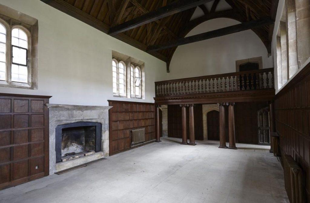 The Tudor style Great Hall - an older part of Apethorpe Palace.