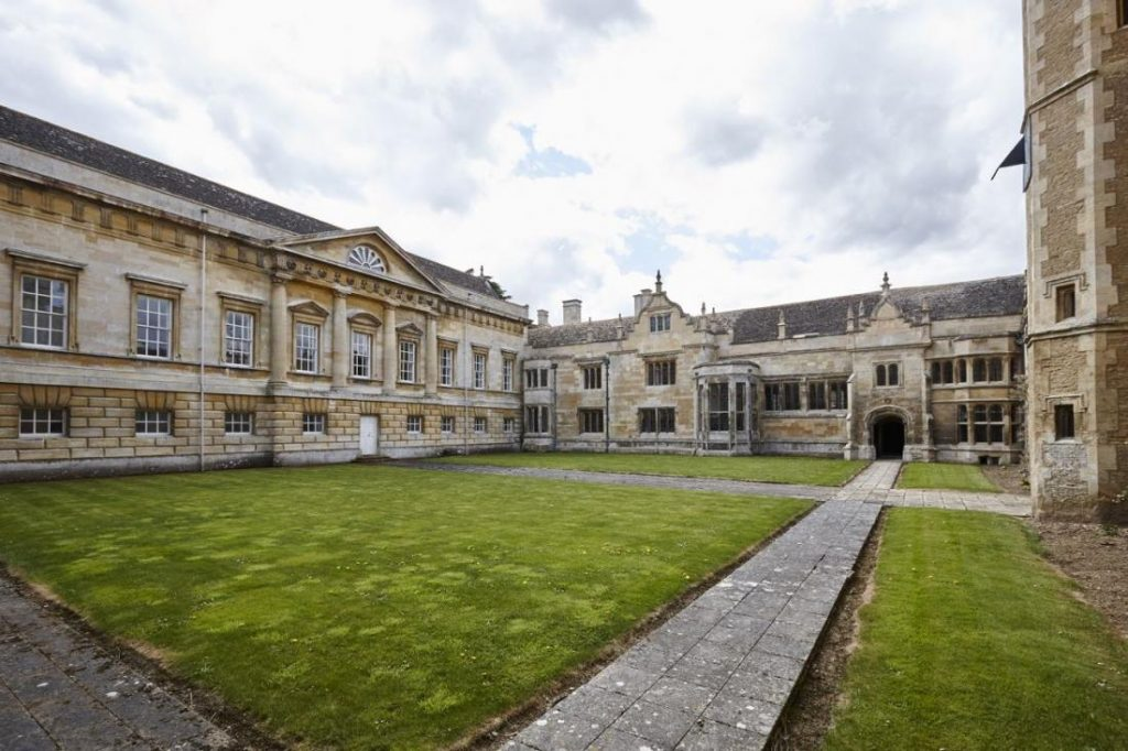 A view to an architectural masterpiece from one of Apethorpe's courtyards