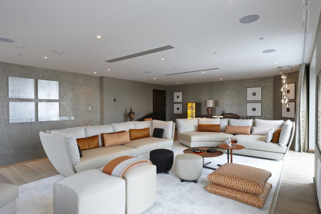 The luxurious interiors of Old Street Penthouse, the mother of all bachelor pads.